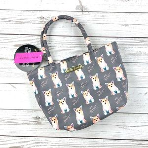 Betsey Johnson corgi insulated lunch tote